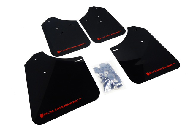 (02-07) Impreza - Rally Armor - UR Mudflaps (Black/Red)