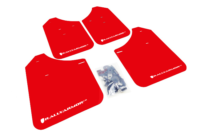 (02-07) Impreza - Rally Armor - UR Mudflaps (Red/White)