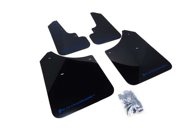 (03-08) Forester - Rally Armor - UR Mudflaps (Black/Blue)