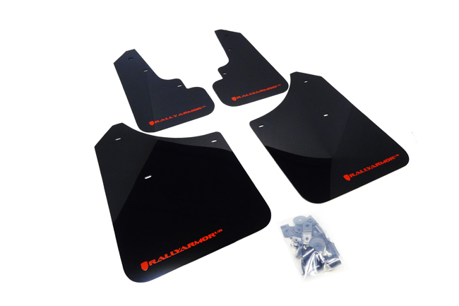 (03-08) Forester - Rally Armor - UR Mudflaps (Black/Red)