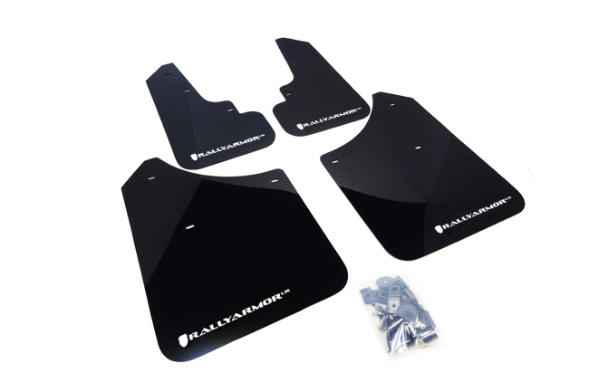 (03-08) Forester - Rally Armor - UR Mudflaps (Black/White)