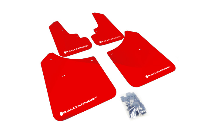 (03-08) Forester - Rally Armor - UR Mudflaps (Red/White)