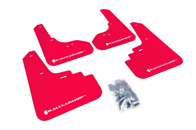 (05-09) Legacy - Rally Armor - UR Mudflaps (Red/White)