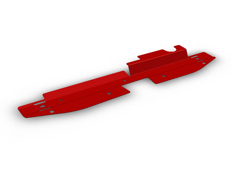 (08-13) Impreza - Radiator Shroud (Red)