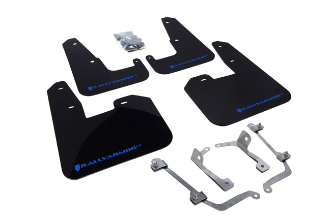 (08-14) STI Hatchback - Rally Armor - UR Mudflaps (Black/Blue)