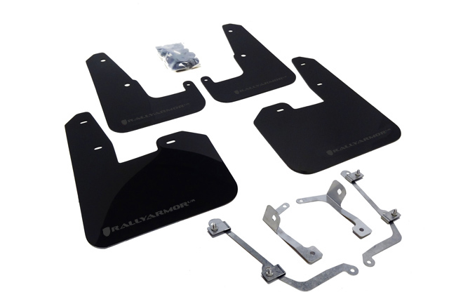 (08-14) STI Hatchback - Rally Armor - UR Mudflaps (Black/Grey)