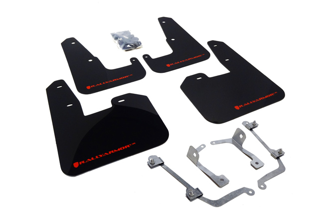(08-14) STI Hatchback - Rally Armor - UR Mudflaps (Black/Red)