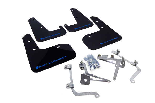 (11-14) WRX & STI Sedan - Rally Armor - UR Mudflaps (Black/Blue)