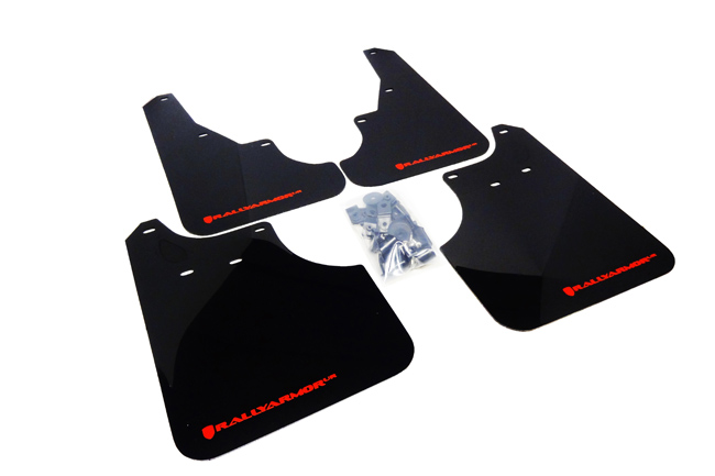 (09-13) Forester - Rally Armor - UR Mudflaps (Black/Red)