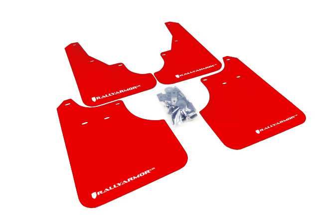 (09-13) Forester - Rally Armor - UR Mudflaps (Red/White)