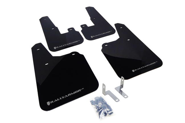 (10-14) Outback - Rally Armor - UR Mudflaps (Black/Silver)