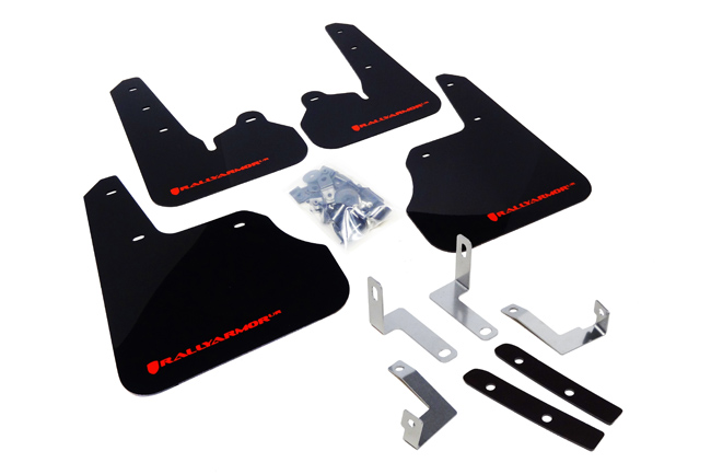 (12-17) Impreza - Rally Armor - UR Mudflaps (Black/Red)