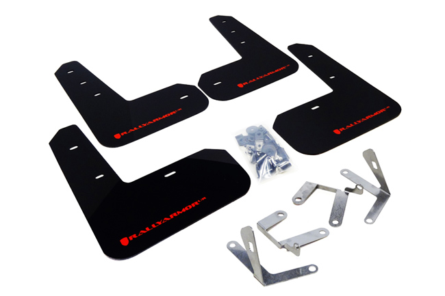 (13-17) BRZ/FRS - Rally Armor - UR Mudflaps (Black/Red)