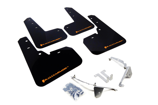(13-17) Crosstrek XV - Rally Armor - UR Mudflaps (Black/Orange)