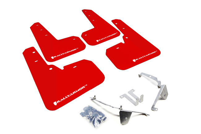 (13-17) Crosstrek - Rally Armor - UR Mudflaps (Red/White)