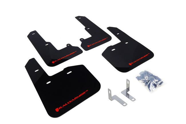 (15-17) Legacy - Rally Armor - UR Mudflaps (Black/Red)