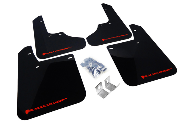 (93-01) Impreza - Rally Armor - UR Mudflaps (Black/Red)