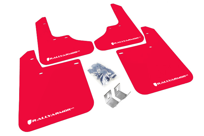 (93-01) Impreza - Rally Armor - UR Mudflaps (Red/White)