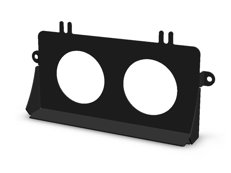 (05-07) Impreza - Ashtray Gauge Bezel w/ (2) 52mm (Black)