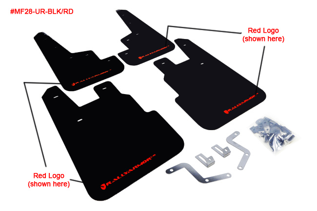 (14-18) Forester - Rally Armor - UR Mudflaps (Black/Red)