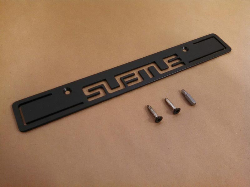 (06-15) Impreza - SUBTLE License Delete (Black) - USDM Holes