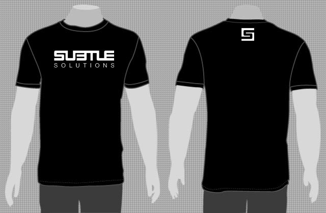 SUBTLE - LOGO S/S T-SHIRT (BLACK) - LARGE