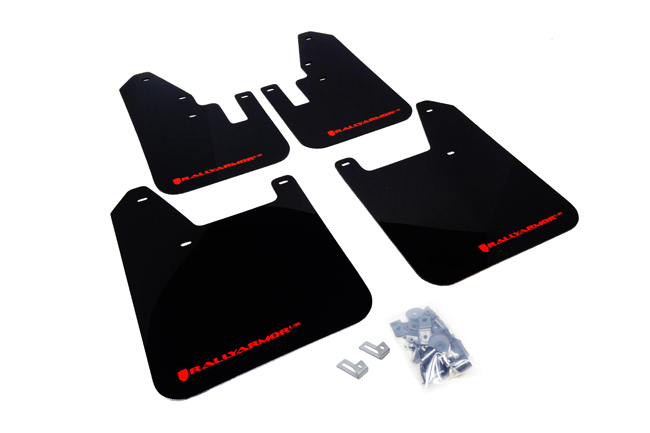 (98-02) Forester - Rally Armor - UR Mudflaps (Black/Red)
