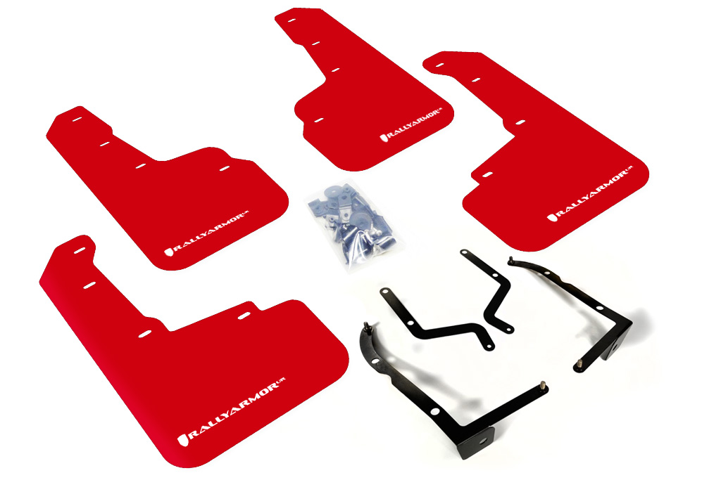 (18-XX) Crosstrek - Rally Armor - UR Mudflaps (Red/White)