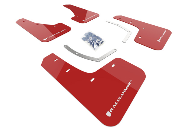 (19-20) Ascent - Rally Armor - UR Mudflaps (Red/White)