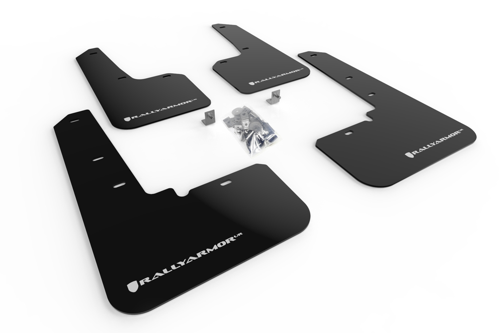 (20-XX) Outback - Rally Armor - UR Mudflaps (Black/White)