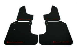 (08-10) WRX - Rally Armor - UR Mudflaps (Black/Red)
