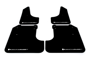 (08-10) WRX - Rally Armor - UR Mudflaps (Black/White)
